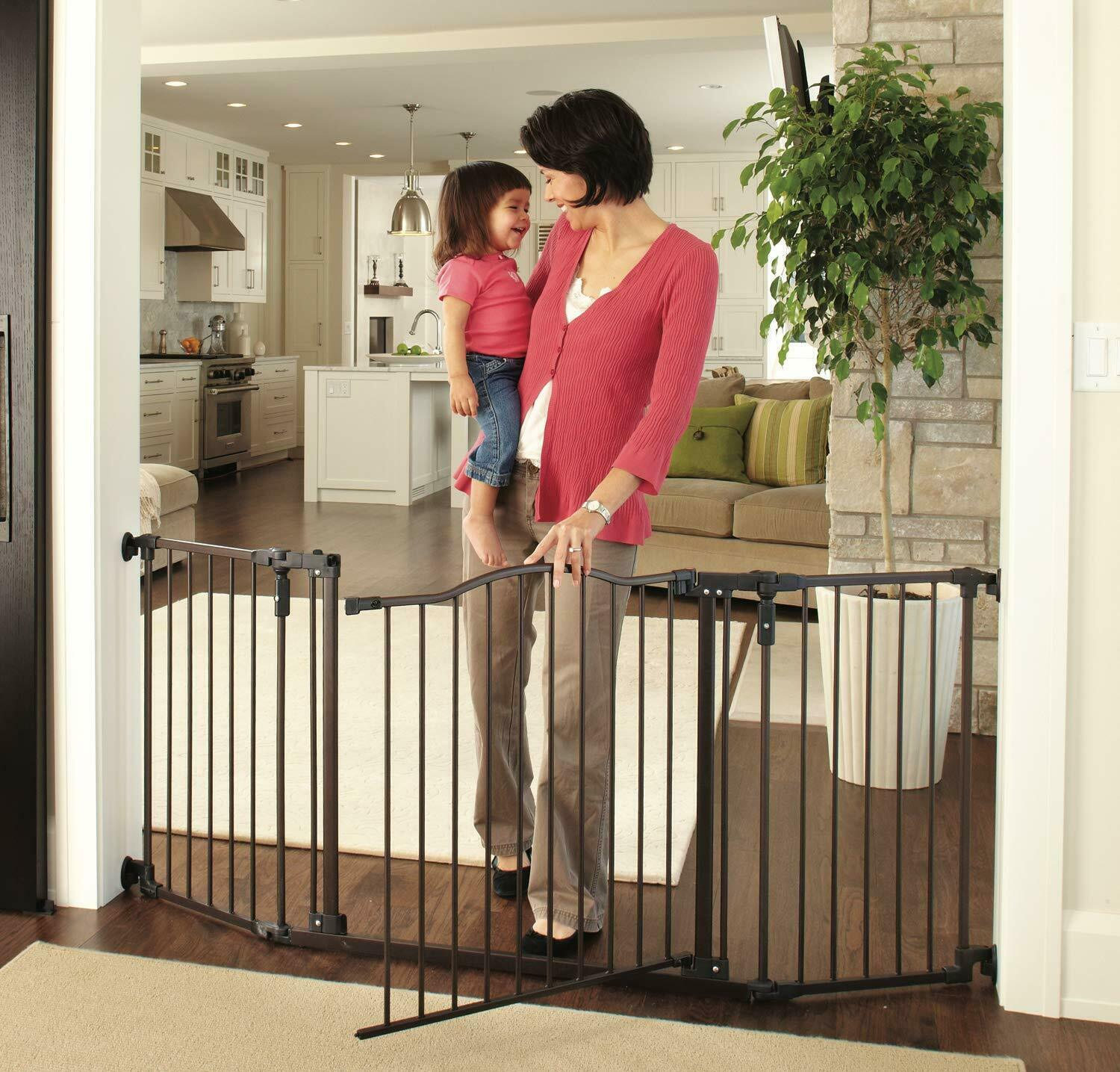"North States 72"" Wide Deluxe Décor Baby Gate Fits 38.3""-72"""