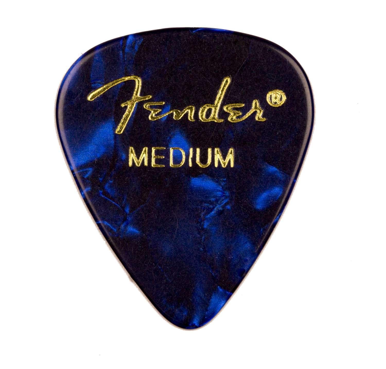 Genuine Fender® 351 Premium Picks, 12 pack, Blue Moto Medium 198-0351-802