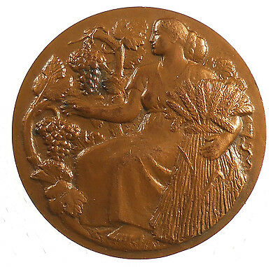 Ceres Wine (France, Viticulture, wine, grapes, Ceres. MINISTRY OF AGRICULTURE bronze)