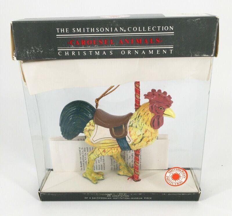 Beautiful Vintage Rooster Carousel Christmas ornament Smithsonian Kurt Adler