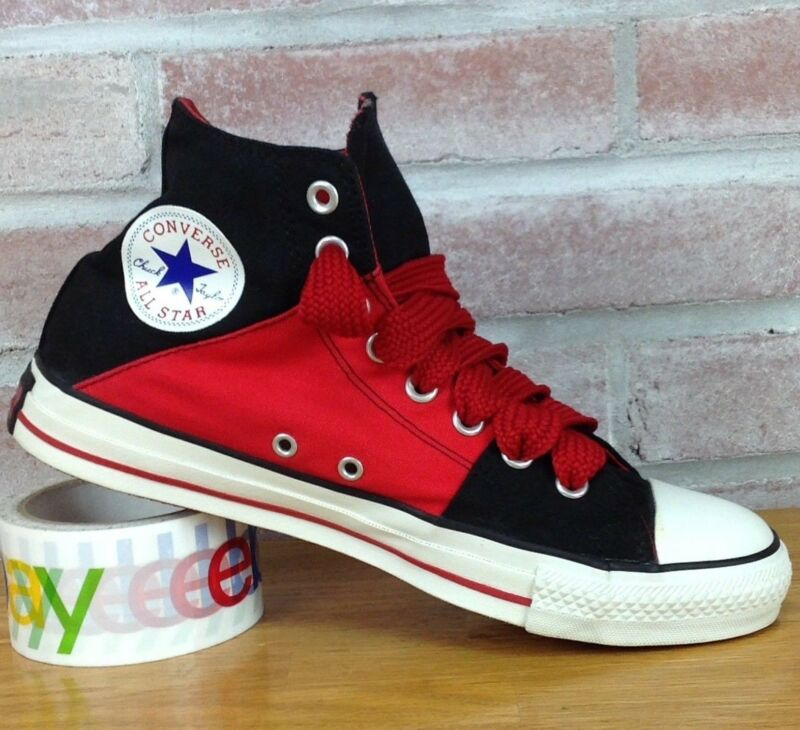 00beefce7d4de Converse Canvas Chuck Taylor All Star Black Red Men's 8 Mid/High Top  Women's 10 | PolyBull.com