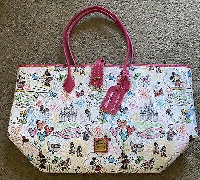NWT Disney Parks Dooney & Bourke 10th Anniversary Mickey Sketch Tote W/dust Bag.