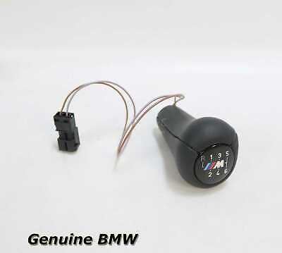 New BMW 6 Speed Illuminated Leather Shifter Knob Lighted E36 E34 1995-1999 OEM