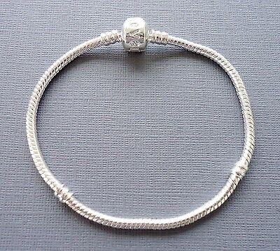 Children's Kid's Teen Snake Chain European  Charm Bracelet. Silver plated 3 mm