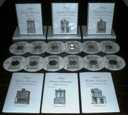 Antique Furniture Restoration and Repair Courses DVD + Manuals by John Tope