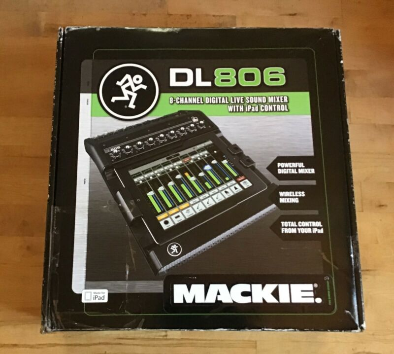 Mackie DL806 Mixer (2037371-00) 8 Channels with Lightning Connector for iPad