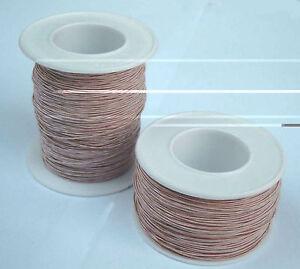 25 Meter HF Litze Kupfer lackiert mit HF-Seide 25m Hochfrequenz Litze