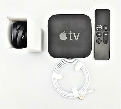 Apple Tv 5Th Generation A1842 4K 32Gb W  Siri Remote Mqd22ll A W  Box Fair Shape