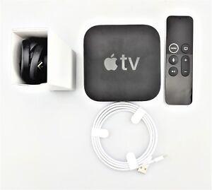 Apple TV 5th Generation A1842 4K 32GB w/ Siri Remote MQD22LL/A w/ Box Fair Shape