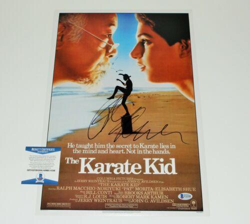 RALPH MACCHIO SIGNED 'THE KARATE KID' 12x18 MOVIE POSTER BECKETT COA COBRA KAI