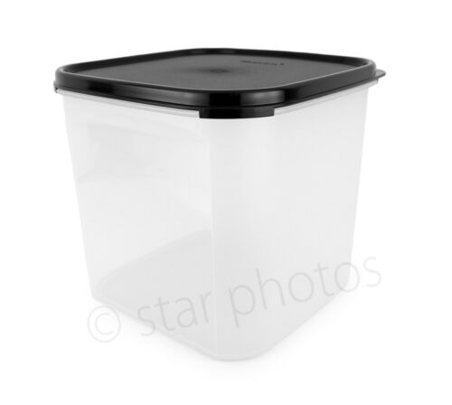 Tupperware Modular Mates 17 Cup Square #3 Container with Black Seal - New!