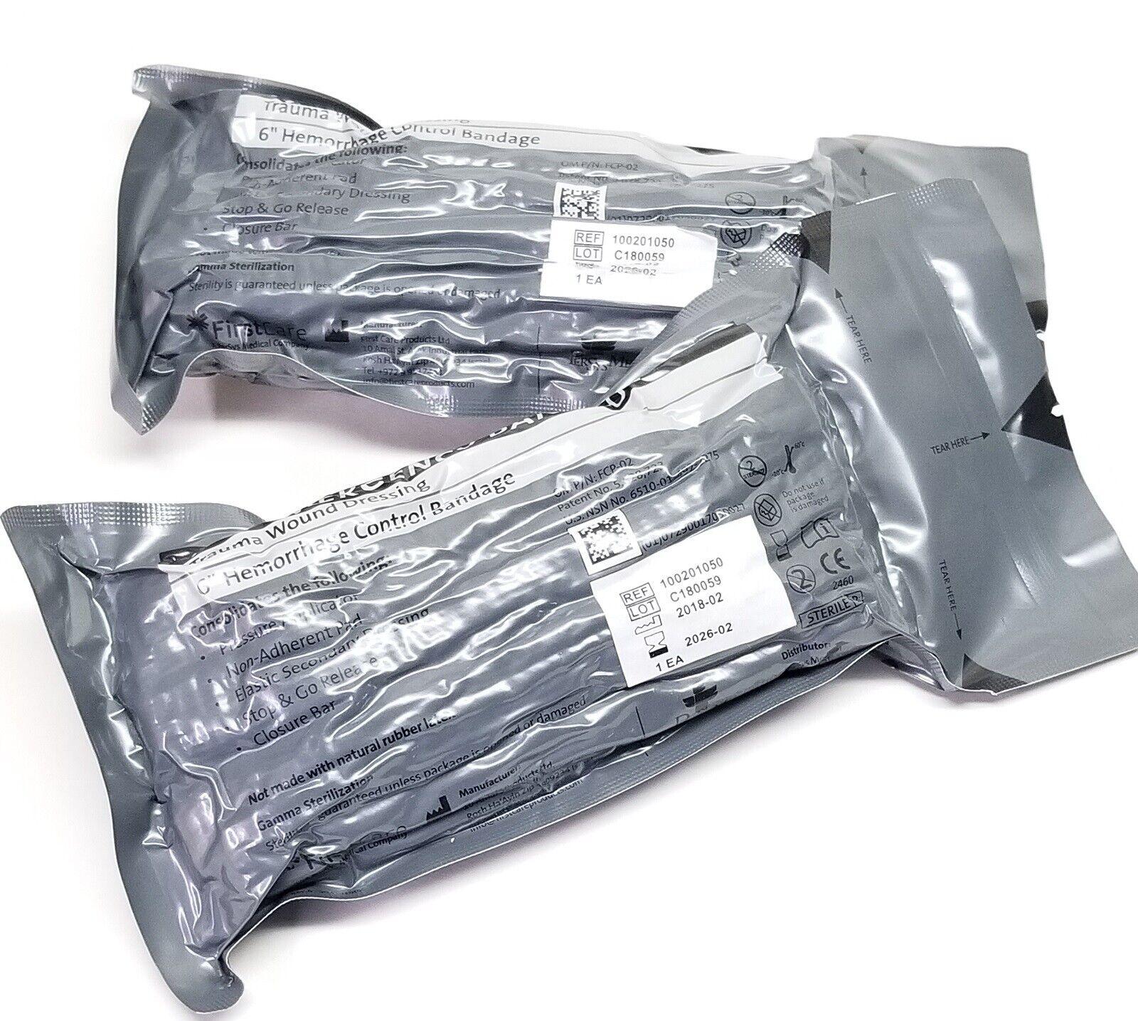 """6"""" Israeli Bandage Emergency Trauma Wound Dressing HemCon 0"""