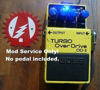 Modify your Boss BD-2 Blues Driver Overdrive Alchemy Audio Mod Service No Pedal