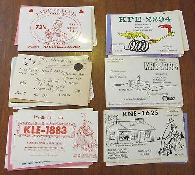 QSL Ham Radio Card Lot of 52 Colorado