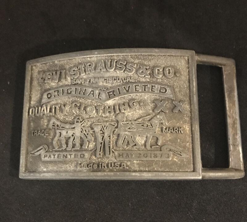 Vintage Levi Strauss & Co. San Francisco Original Riveted Brass Belt Buckle