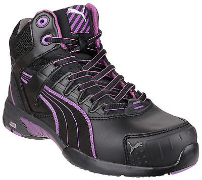 Puma Stepper Mid Safety Womens Industrial Work Boots UK2-8
