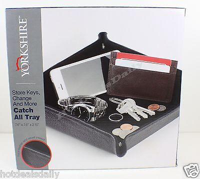 Yorkshire Catch All Tray 8x8x2 Office Desk Organizer Drawer Accessory Supply