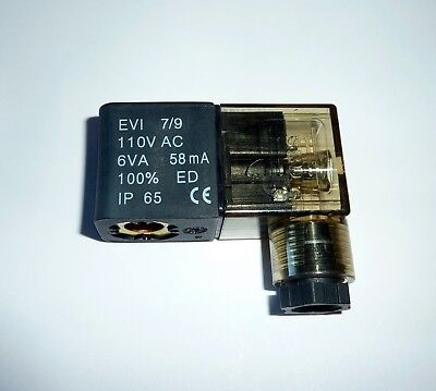 Wic Valve 2k Series 110v Ac Encapsulated Solenoid Coil With Led Din Connector