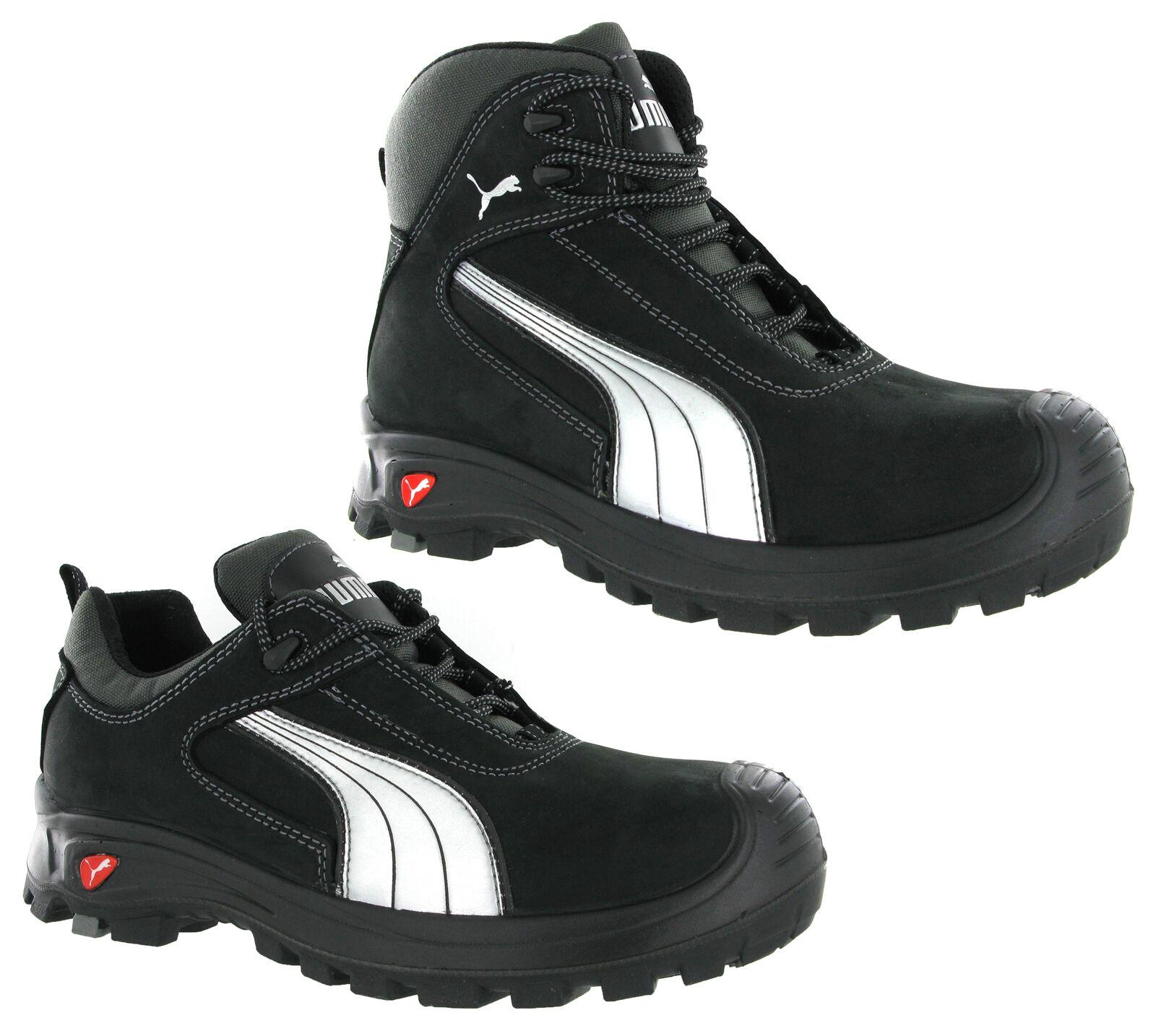 ffd93bc33223d Puma Cascades Mid Low Black S3 Safety Midsole Toe Cap Mens Trainers Shoes  Boots