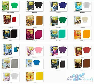 Dragon Shield deck protectors card sleeves Matte for Standard card Mist, Ruby..