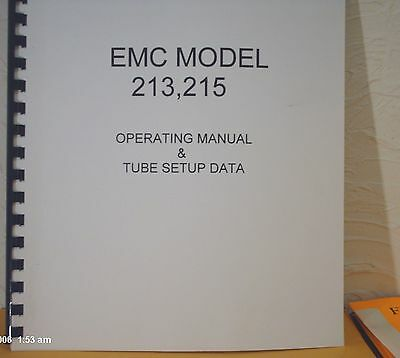 Emc 213215 Instruction Manual Setup Data  Schematic