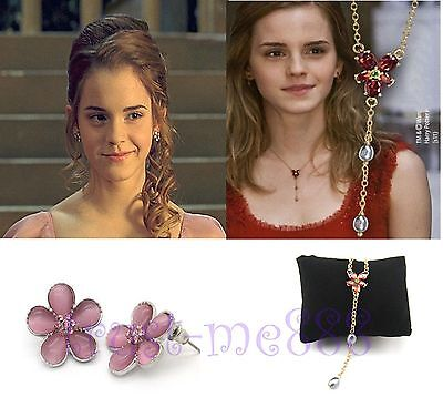 Harry Potter Hermione Charming Necklace   Earrings Valentines Day Gift In Box