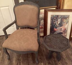 Detailed Armchair & Side Table
