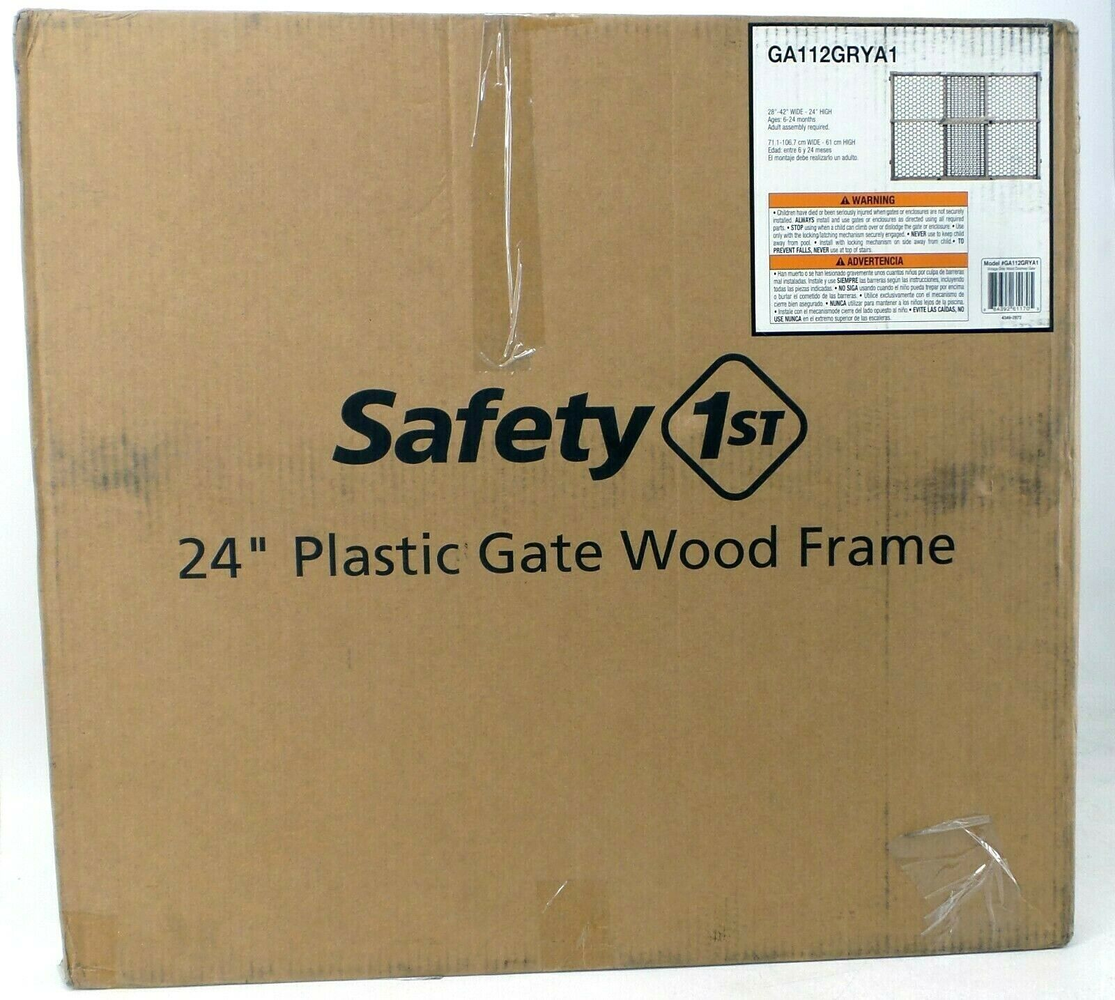Safety 1st Vintage Wood Baby Gate with Pressure Mount Fasten