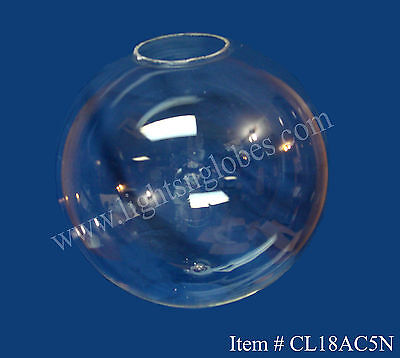 "18"" Acrylic Clear Plastic Round Globe Outdoor Street Light Fixture Pole 5.25"""
