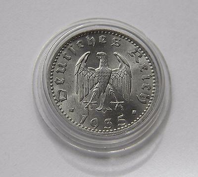 DRITTES REICH: 50 Reichspfennig 1935 A, J. 368, stempelglanz, TOLLES STÜCK !!!