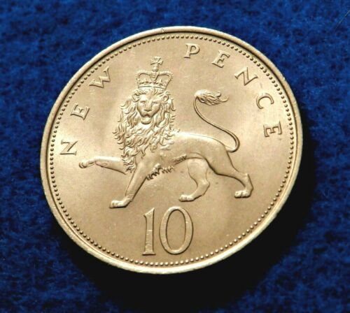 1969 Great Britain 10 New Pence - Gorgeous Full Luster Coin