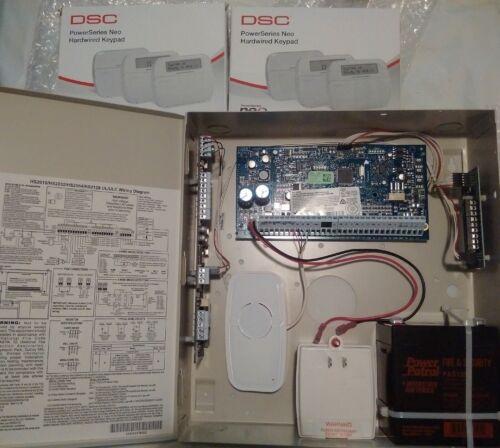 DSC Neo HS2032 KIT / 10-PG9975, NEW RF & LCD Keypads, Motion/Battery/Transformer