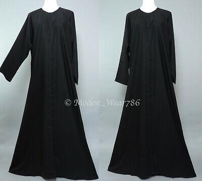Dubai Abaya Classic Open Everyday Muslim Women Dress Nida Black