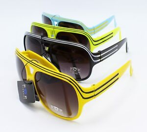 Wholesale 12 Pair Colorful Gradient Smoke Lens Aviator Sunglasses  #P1136-12