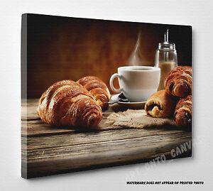 Fresh Coffee and Cake Kitchen Food Photo Canvas Print Wall ...