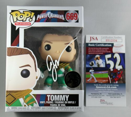 JASON DAVID FRANK SIGNED TOMMY GREEN RANGER FUNKO POP FIGURE POWER MMPR JSA COA
