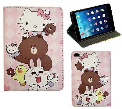 For Apple iPad Mini 1 2 3 4 Hello Kitty New Smart Cartoon Stand Case Cover ()