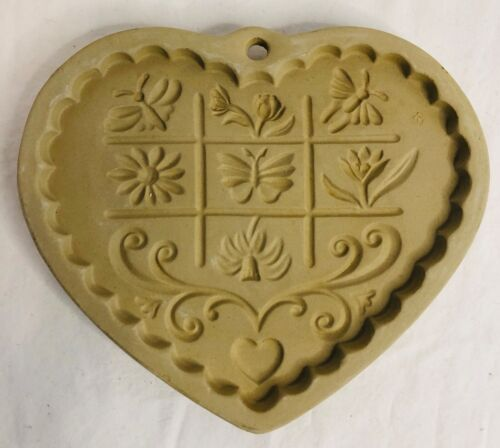 Vintage Pampered Chef LTD. Cookie Mold Gardens Of The Heart 1996 USA.