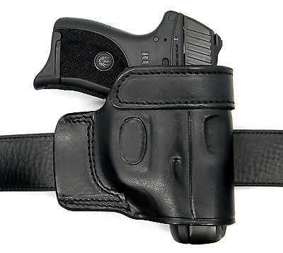380 Leather Belt Slide Holster - CEBECI BLACK LEATHER OWB YAQUI QUICK DRAW BELT SLIDE HOLSTER - RUGER LCP 380