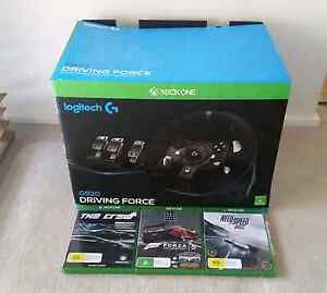 Logitech G920 Driving Force Racing Wheel Xbox One + 3 Games Melton Melton Area Preview