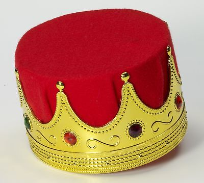 King Crown Costume Hat Adult One Size