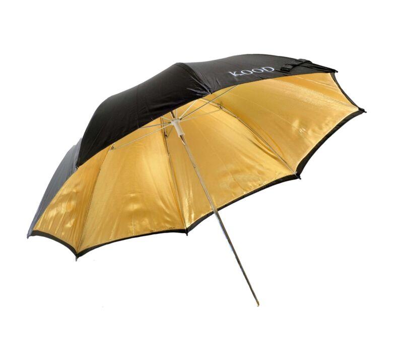 Kood+33%22+%2F+84cm+Black+%26+Gold+Reflective+Studio+Flash+Umbrella+
