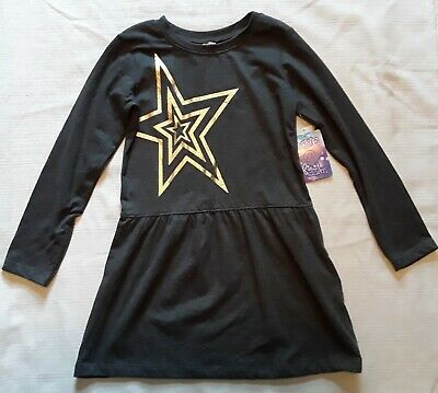 Girls Dress Sites (Girls Love at First Site Size XSmall 4/5 dress Black and Gold Star)