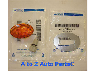 NEW 1999-2010 Ford F350-F450 SUPER DUTY Rear Fender AMBER Side Marker Lamp &Clip