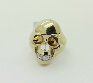 9ct Gold Men's Diamond Skull Ring Mandurah Mandurah Area Preview