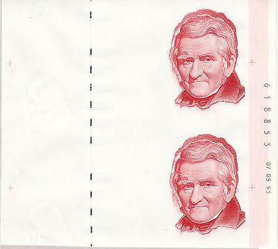 Probebanknote Specimen Dänemark 1993 Goebel Doppeltestnote