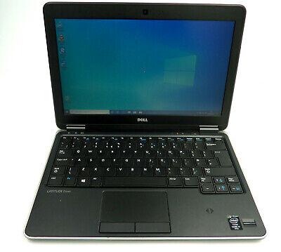 """DELL E7240 LAPTOP WIN.10 CORE i7-4200U 2.7GHz 8GB SSD 240GB 12.5"""" GRADE B 16644"""