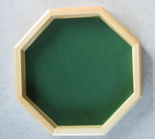 """New Deluxe Wooden Dice Octagon Tray Gaming 12"""""""