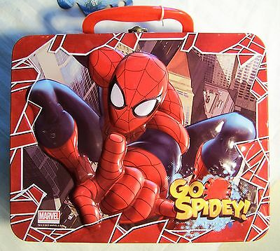 Spiderman - Metal Lunch Box / Tote - Plus 48 Piece Puzzle - New w/Tag