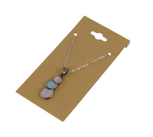 100 Jewellers Necklace Pendant Drop Earring KRaft Brown Hanging Cards